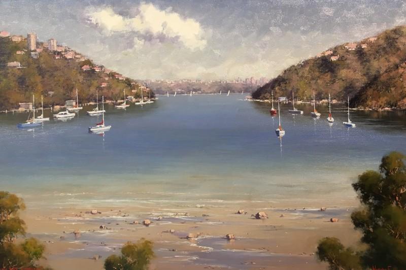 Low Tide, Cremorne - 76 x 50.5cm