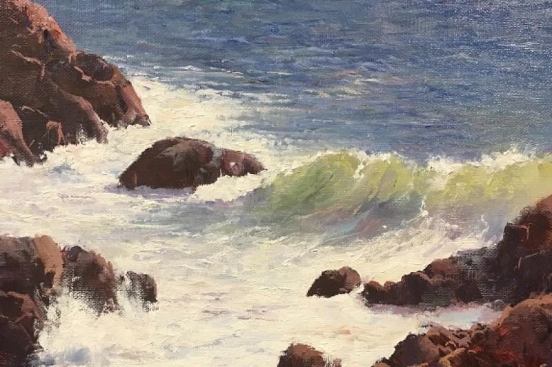 Surf at Coffs - 20 x 25.5cm