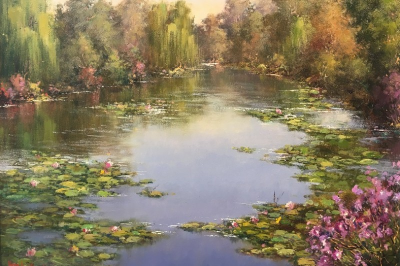 Water Lily Pond - 41 x 31cm