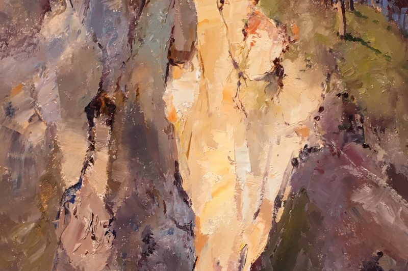 Macleay Cliff Face - 40.4 x 20cm