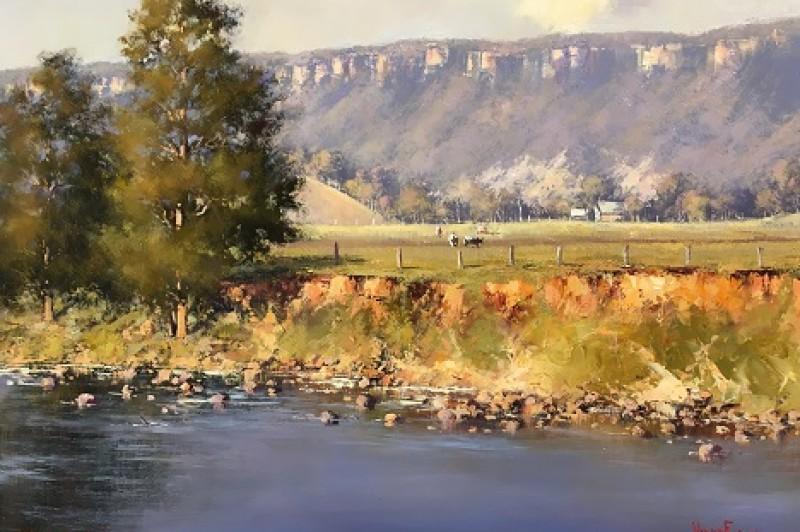 Kangaroo River - 45.5 x 35.5cm