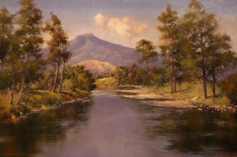 Macleay River - 30.5 x 15cm