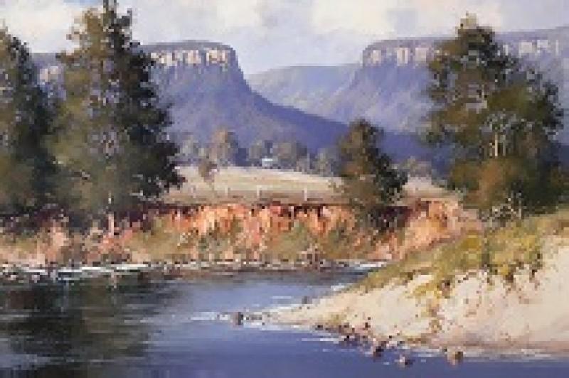 Kangaroo River - 50.5  x 40.5cm